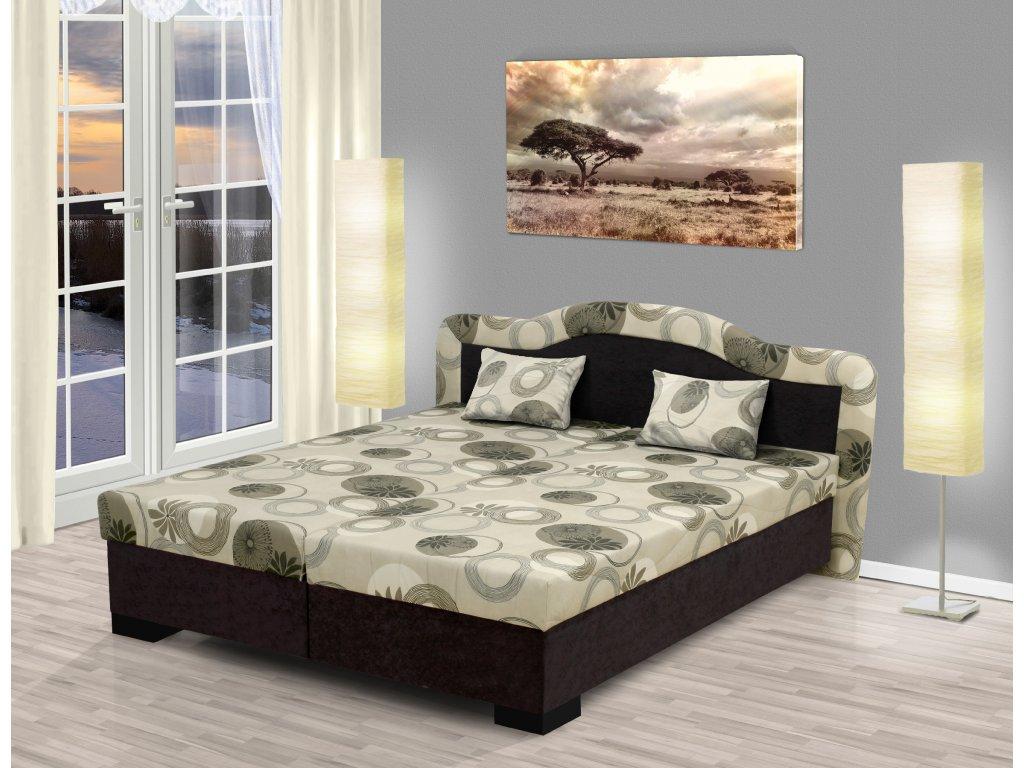 Čalúnená posteľ s úložným priestorom Zuzana 180