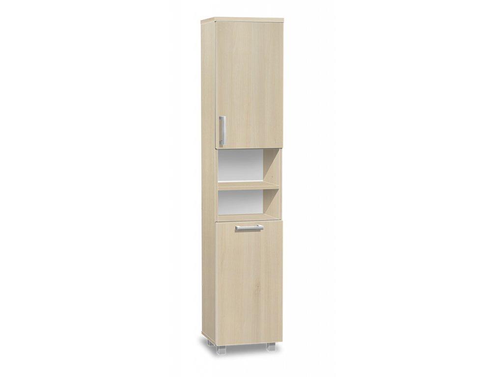 Vysoká kúpeľňová skrinka s košom K17