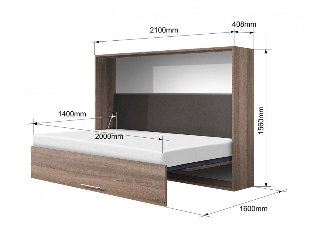 sklápacia posteľ VS1056P, 200x140cm