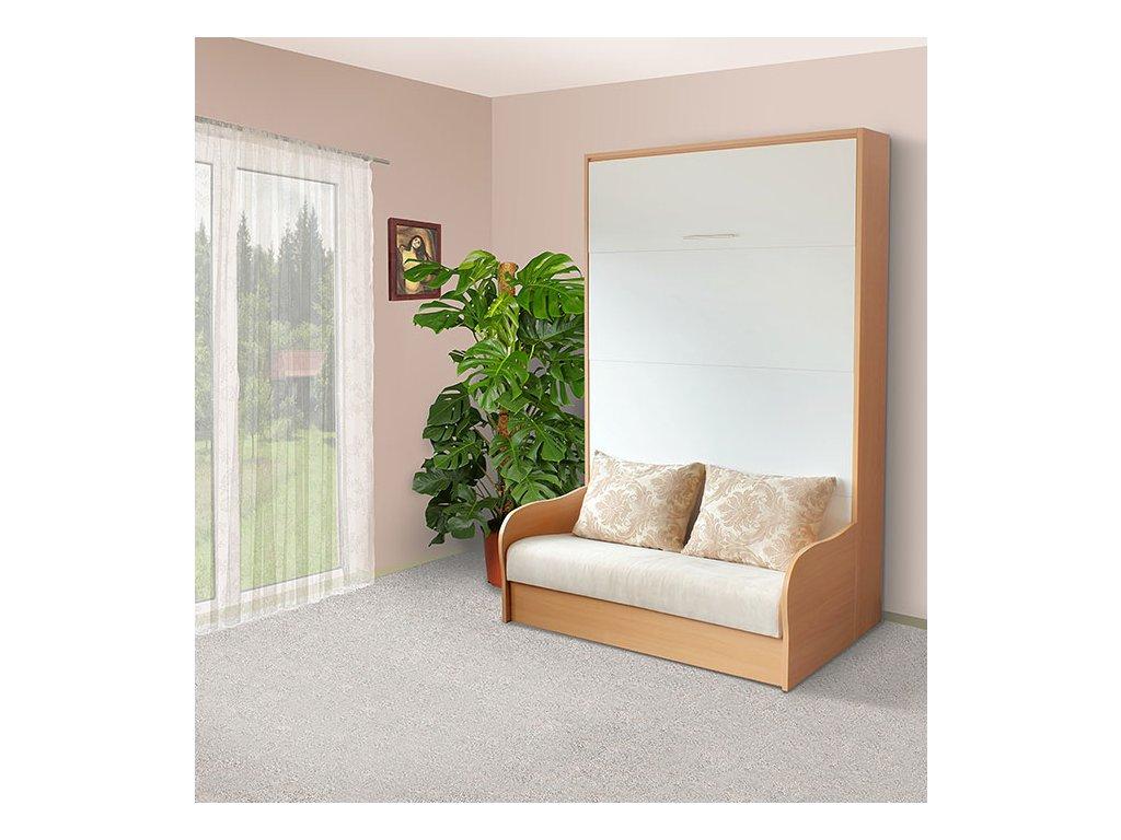 Sklápacia posteľ s pohovkou VS 1058P, 200x160cm