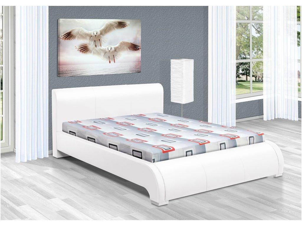 Luxusná posteľ 140x200 cm Seina s úložným priestorom