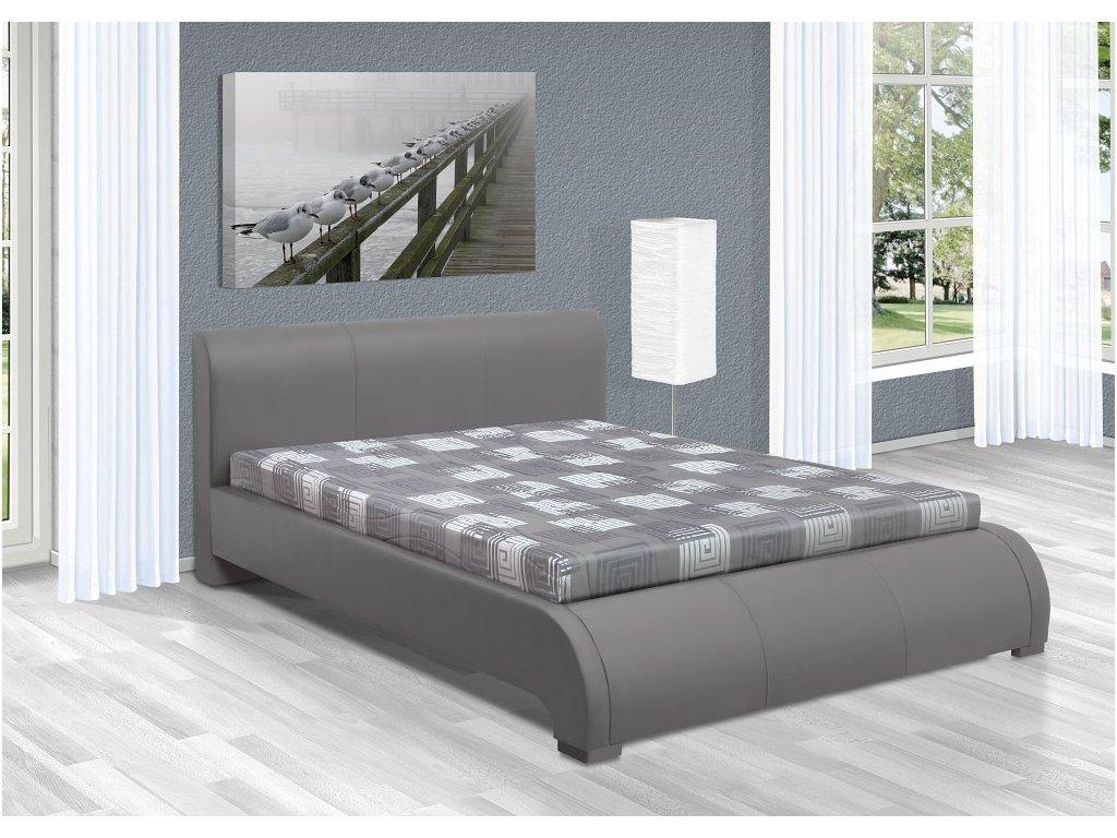 Luxusná posteľ 160x200 cm Seina s úložným priestorom