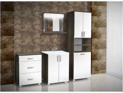 Vysoká kúpeľňová skrinka K15