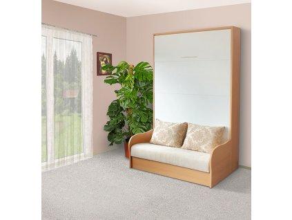 Sklápacia posteľ s pohovkou VS1058P, 200x120cm