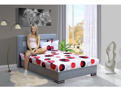 Čalúnená posteľ s úložným priestorom Mia Ivana