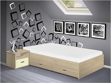 posteľ s úložným priestorom Renata 140x200 cm
