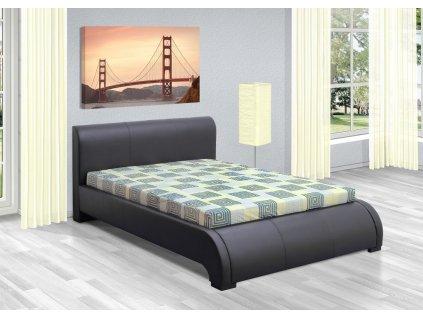 Luxusná posteľ 120x200 cm Seina s úložným priestorom